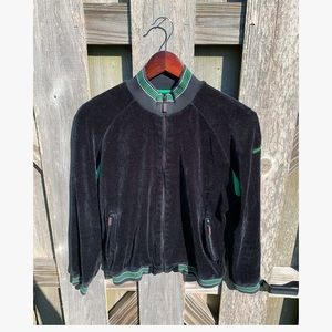 Burberry Golf Jacket Air Vented Velvet Size Small